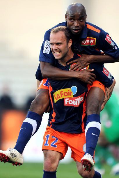 En ese mismo juego, Geoffrey Dernis del Montpellier quería salir...