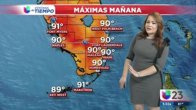 Calor y probabilidad de tormentas aisladas para este lunes en Miami