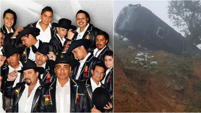 El autobús de La Banda Mach volcó en una carretera de México, afortunada...