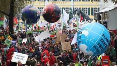 Así se ve el ambiente en la actual cumbre del clima en Alemania.