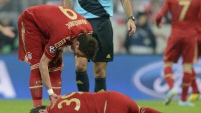 Kroos estaba tirado sobre el césped doliéndose por la lesión.