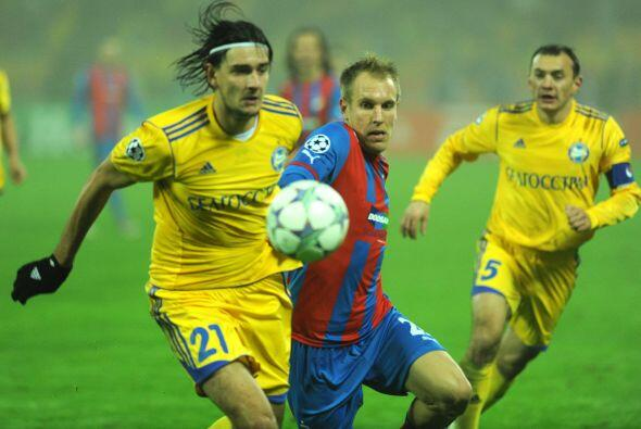 El Viktoria Plzen chocó con el BATE Borisov.