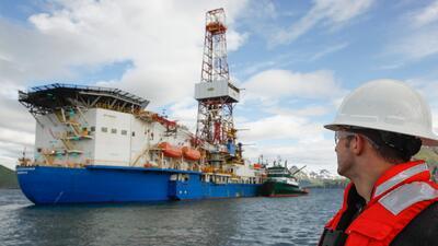 Un buque de Shell en  el Ártico.