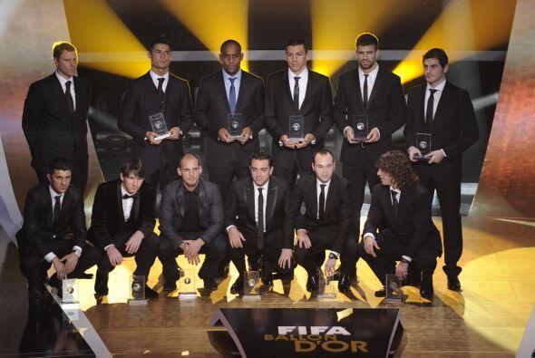 Compartió ese honor con cinco compañeros del Barça.