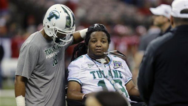 El chico de la Universidad de Tulane quedó paralizado del cuello a los p...
