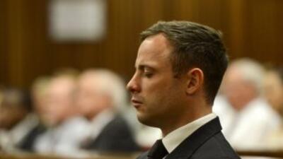 El atleta sudafricano escuchó su sentencia este martes por la mañana en...
