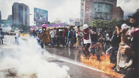 Este miércoles, los jóvenes opositores volvieron a enfrent...