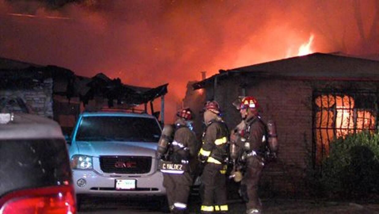 Incendio en West Greenway Avenue