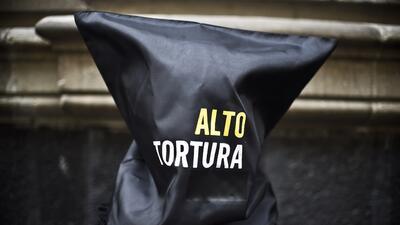 Activistas han protestado en México exigiendo un alto a la tortura.