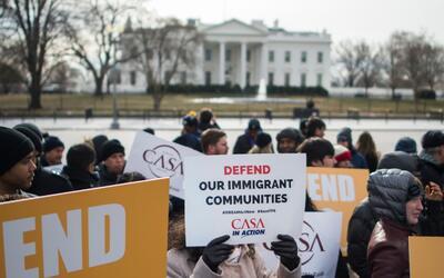 El 8 de enero, grupos en contra de la decisión del gobierno feder...