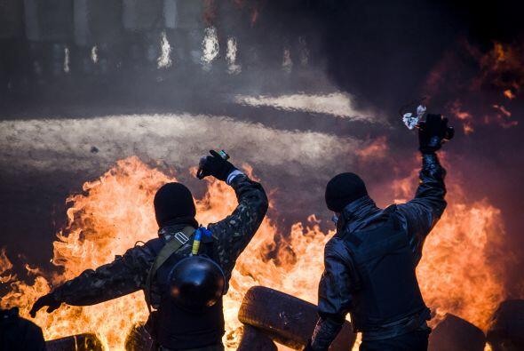 Las protestas van contra el presidente ucraniano, Víktor Yanukóvich.