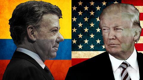 Los presidentes Donald Trump y Juan Manuel Santos se reunirán est...