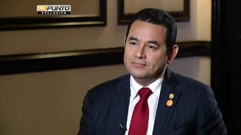 En exclusiva: presidente de Guatemala Jimmy Morales dice si considera la...