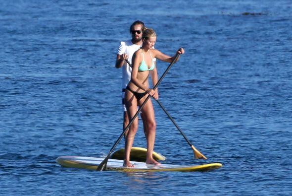 Al parecer a Leo y Tony le gusta las actividades acuáticas.