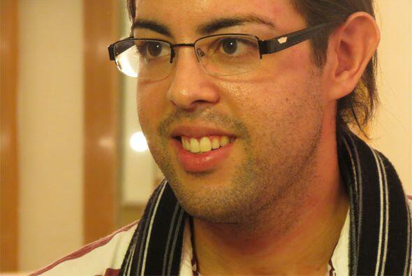 Raúl durante nuestras entrevistas.