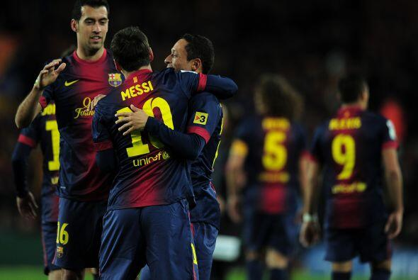 Al más puro estilo de sus goles, Lionel convirtió el 3-1 lapidario.