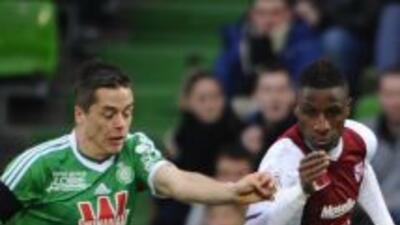 El galo Romain Hamouma tuvo un gran partido ante el Metz.