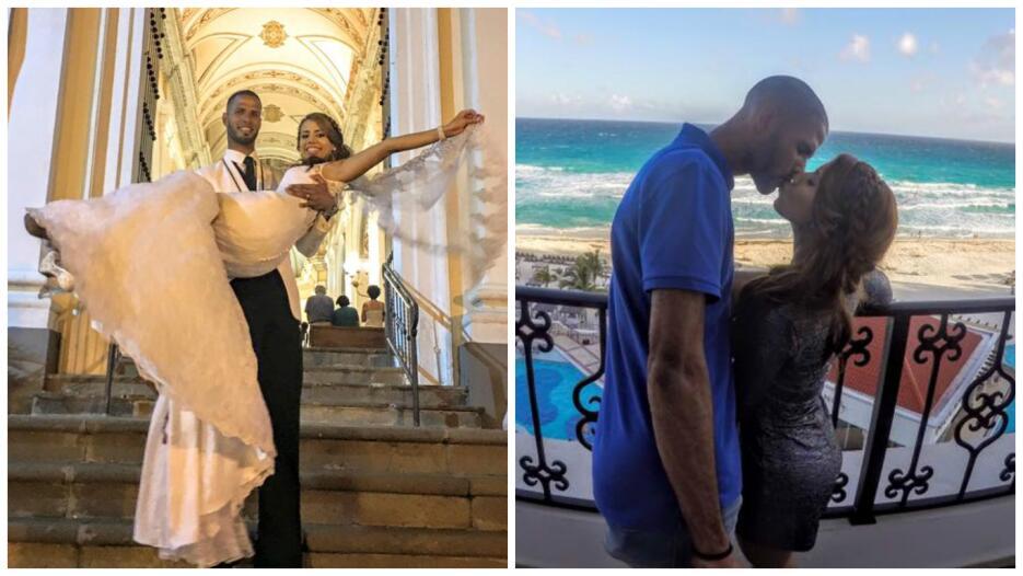El vallista ponceño se casó el sábado con su novia Keishla y se fue de l...