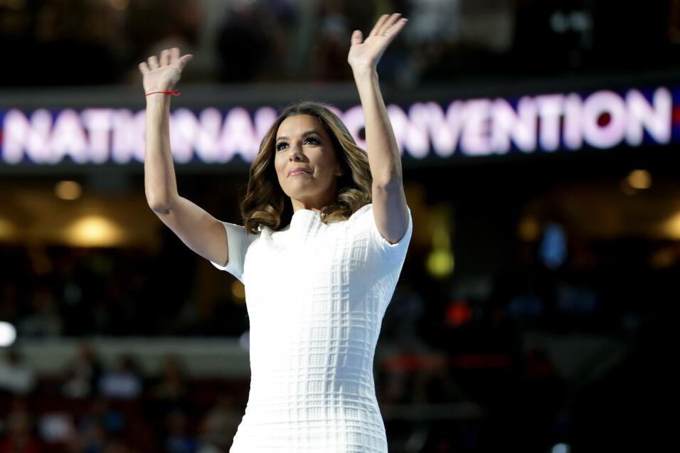 Eva Longoria en la convención demócrata