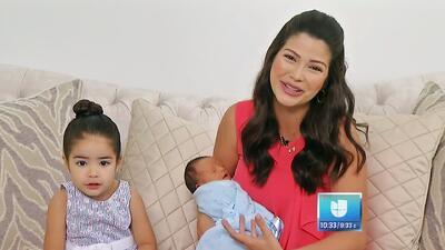 Ana Patricia, Gael y Giulietta por primera vez en TV después del parto (recogiendo un mango rompió fuente)