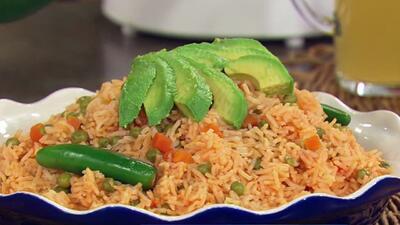 Receta de arroz a la mexicana en la cocina de Karla