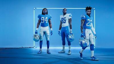 Los Detroit Lions sacan a la luz sus nuevos uniformes