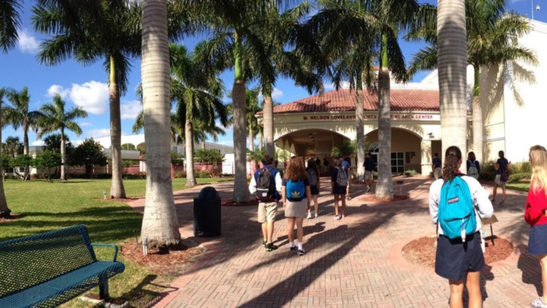 Estudiantes en The King's Academy en West Palm Beach, Florida. Flori...