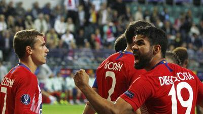En fotos: Diego Costa, la gran figura de la Final de la Súper Copa de la UEFA