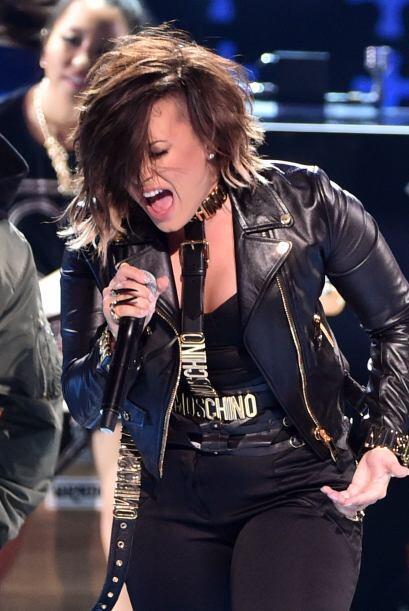 Demi Lovato fue de los mejores números musicales de la noche.