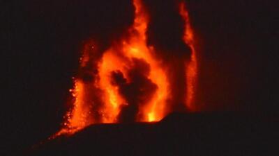 La espectacular erupción del volcán Etna