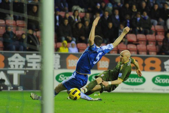 Cuando todos creían que la victoria del Wigan era un hecho, Johnson no d...