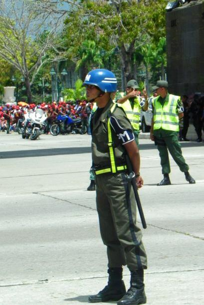 El personal de seguridad estuvo reservado para el Fuerte Tiuna y las áre...
