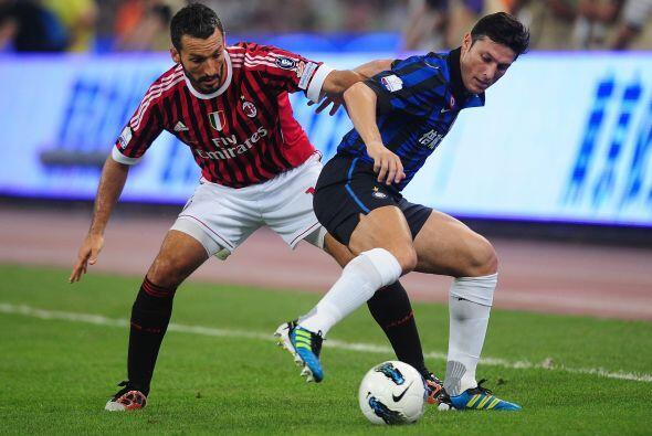 El Milan y el Inter disputaron la final de la Supercopa italiana en Pekí...
