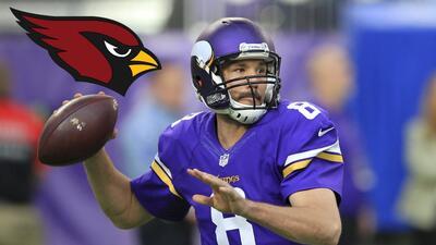 Sam Bradford tomará los controles de los Arizona Cardinals.