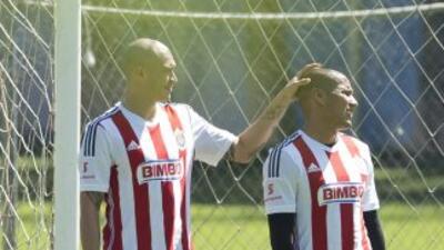 Jorge Enríquez, Carlos Salcido y Luis Michel.