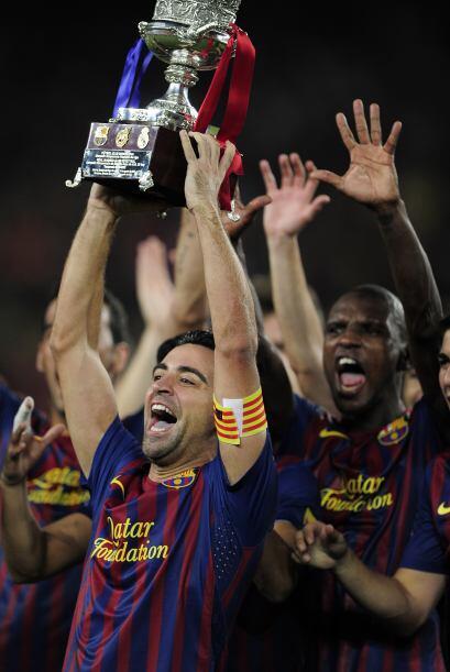 Esta es la tercera Supercopa española que gana el Barcelona de fo...