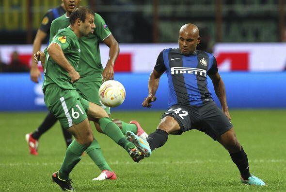 Inter de Milán fue local en el duelo ante el Rubin Kazan, donde l...