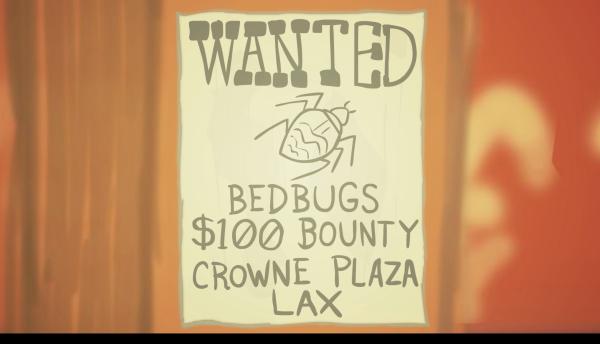La recompensa de $100 es para trabajadores que hallen chinches en el hotel