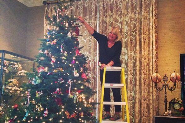 Y fue su mamá quien terminó de decorar.