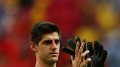 Courtois fue una de las grandes figuras de Bélgica en el Mundial.