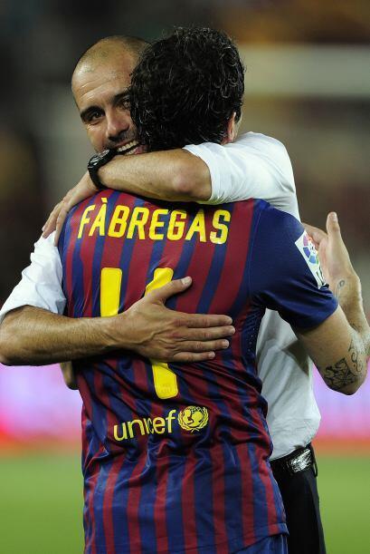 Y Guardiola corría a felicitarlo, descargando toda la tensi&oacut...