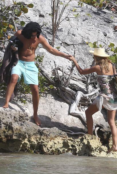 Las playas de St. Barts fueron el escenario ideal para su salidita román...
