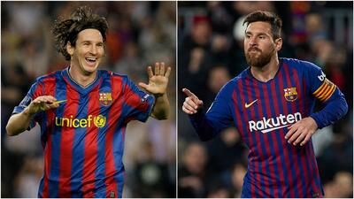 #10YearsChallenge: ¿Se hubiera pensado hace 10 años que Messi llegaría a 400 goles en España?