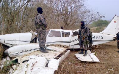 Avión de matrícula venezolana estrellado en Honduras con u...