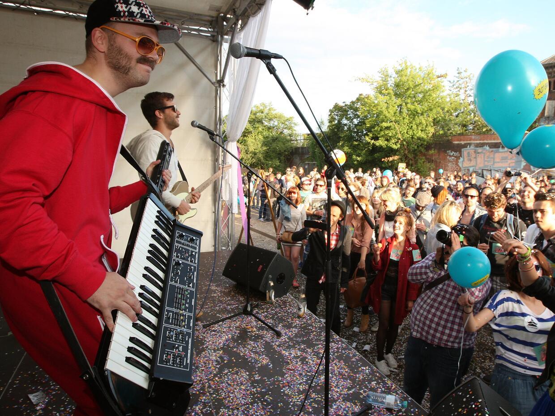 Un festival hípster en Berlín, en 2012.