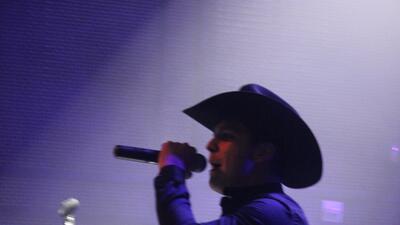 Christian Nodal en concierto privado