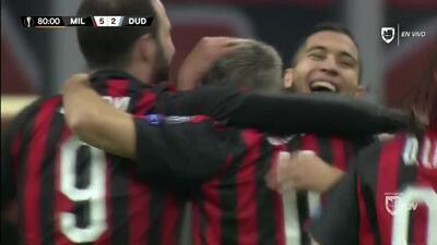 ¡GOOOL! Fabio Borini anota para Milan