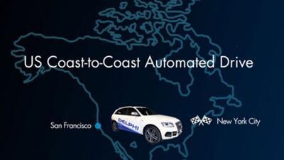 Este sería el viaje más largo hecho en EEUU de un vehículo autónomo.