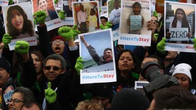 Protesta a favor de los dreamers frente al Capitolio.