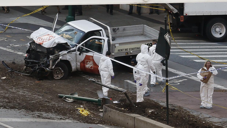 El vehículo utilizado en lo que el alcalde de Nueva York dijo que...